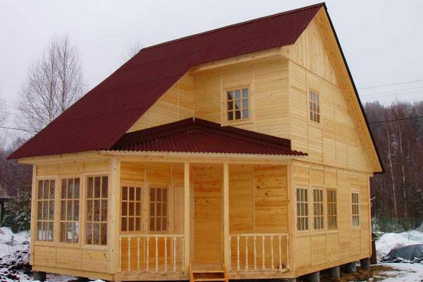 Каркасно-брусовой дом