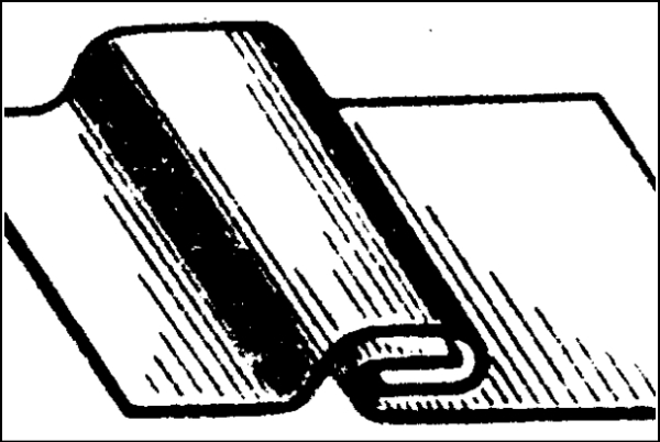 Лежачий фальц
