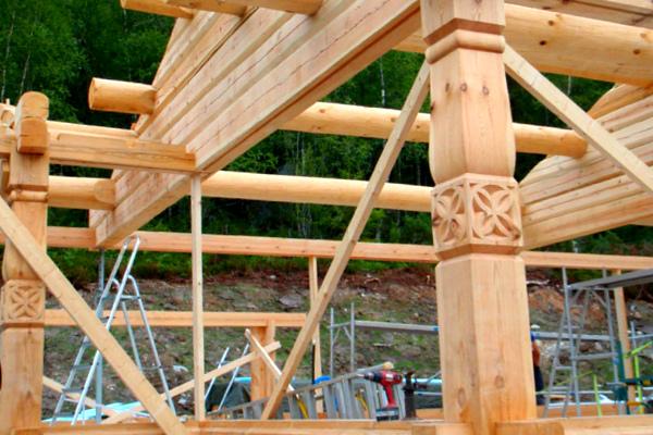 Норвежский каркасно-бревенчатый дом